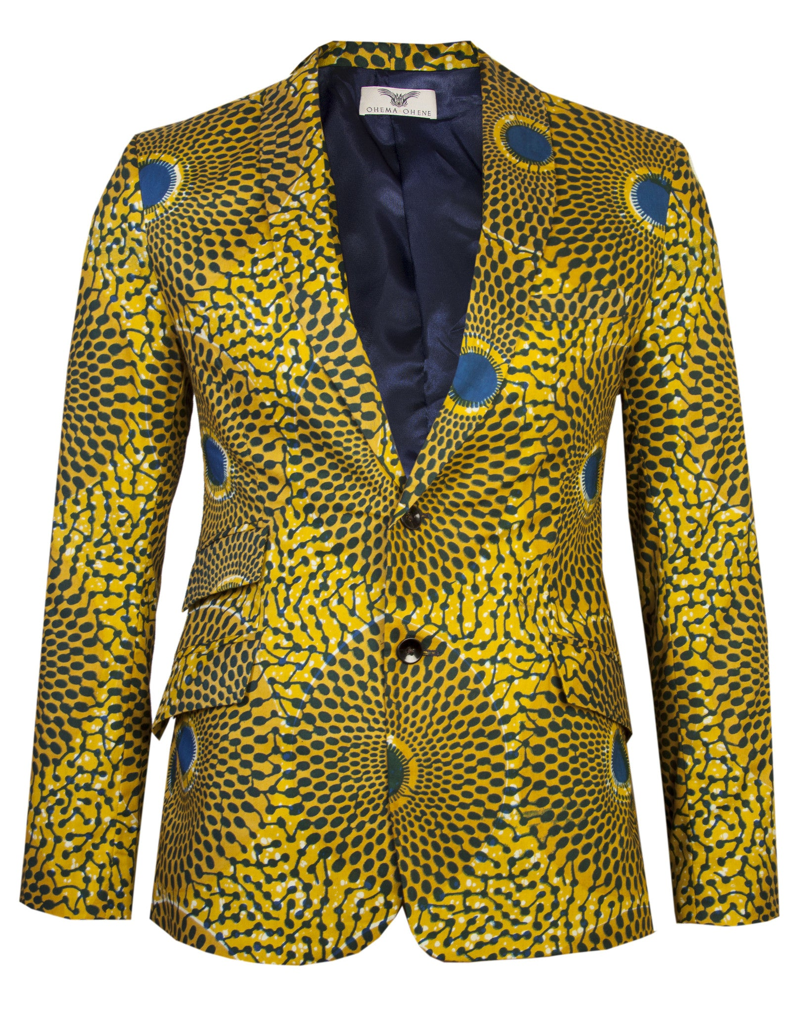 Men's 2 button blazer 'Nsubra' African print - OHEMA OHENE AFRICAN INSPIRED FASHION  - 1