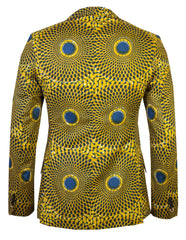 Men's 2 button blazer 'Nsubra' African print - OHEMA OHENE AFRICAN INSPIRED FASHION  - 3