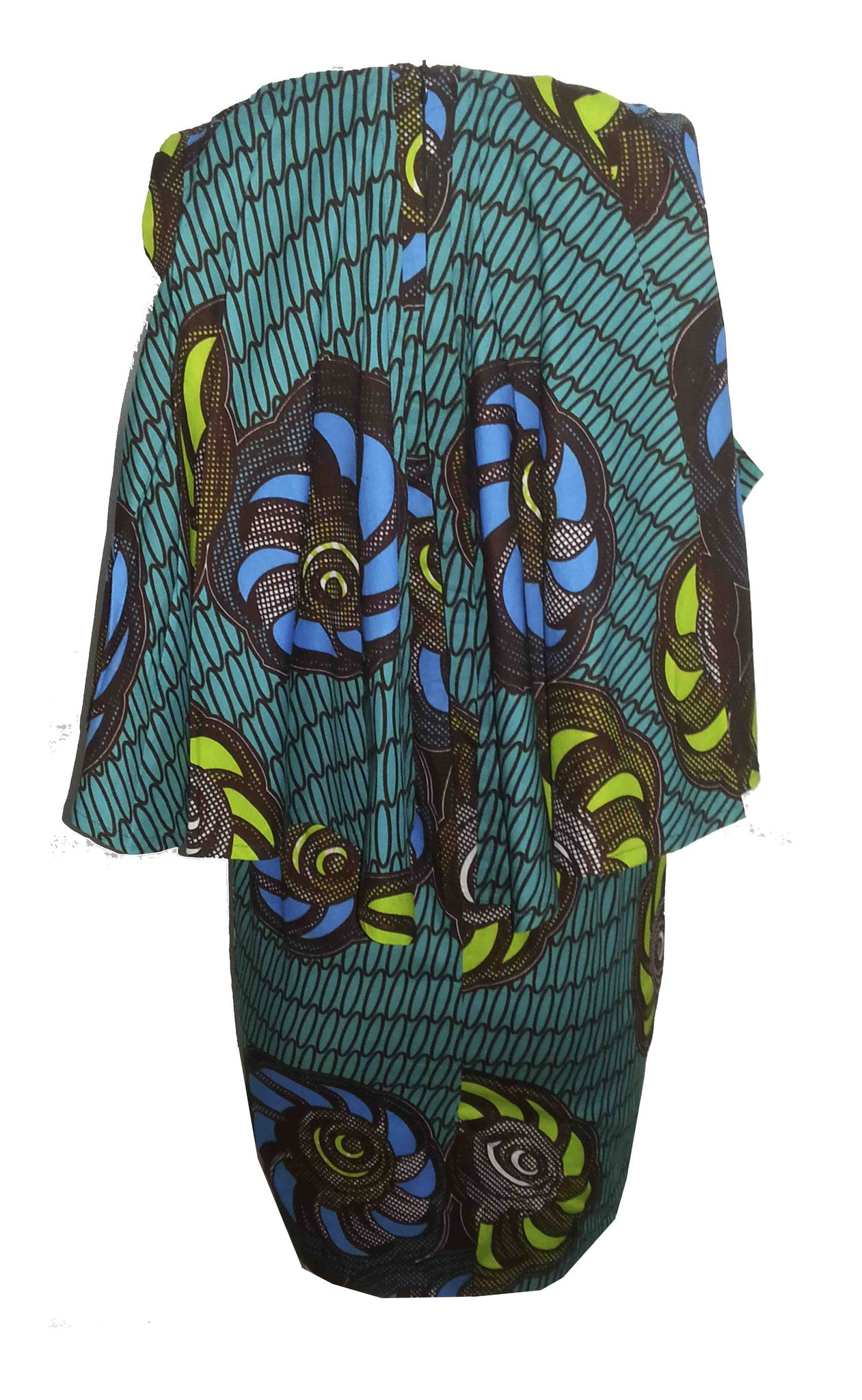 African Print Cape Dress - OHEMA OHENE AFRICAN INSPIRED FASHION  - 2