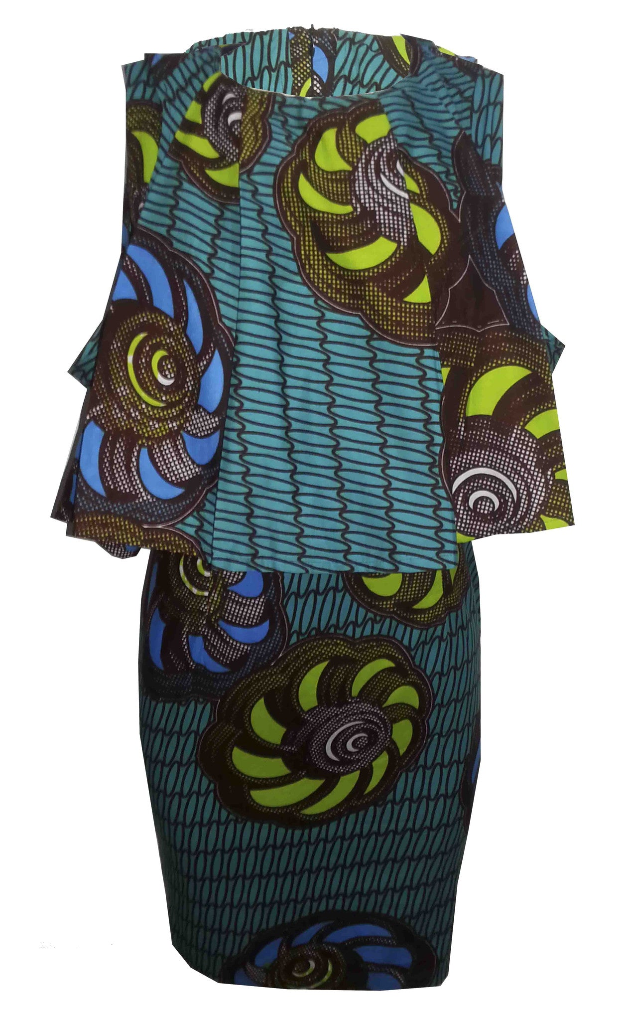 African Print Cape Dress - OHEMA OHENE AFRICAN INSPIRED FASHION  - 1