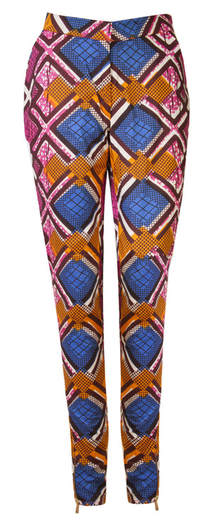 Libby African print trousers - OHEMA OHENE AFRICAN INSPIRED FASHION  - 1