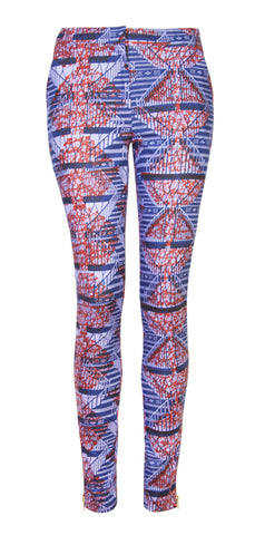 Libby African print trousers- Ladder