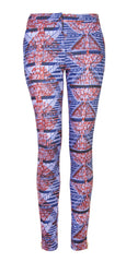 Libby African print trousers- Ladder - OHEMA OHENE AFRICAN INSPIRED FASHION  - 1