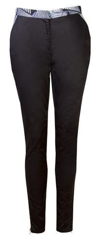 Ladies Black stretch trousers - OHEMA OHENE AFRICAN INSPIRED FASHION  - 1