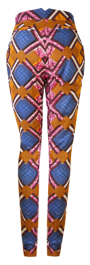 Libby African print trousers - OHEMA OHENE AFRICAN INSPIRED FASHION  - 2