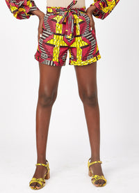 Lina African print shorts-Ladder