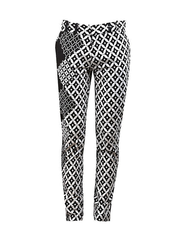 Black & White Men's skinny leg trousers