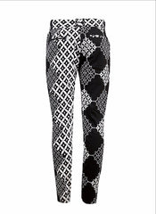 Black & White Men's skinny leg trousers - OHEMA OHENE AFRICAN INSPIRED FASHION  - 2