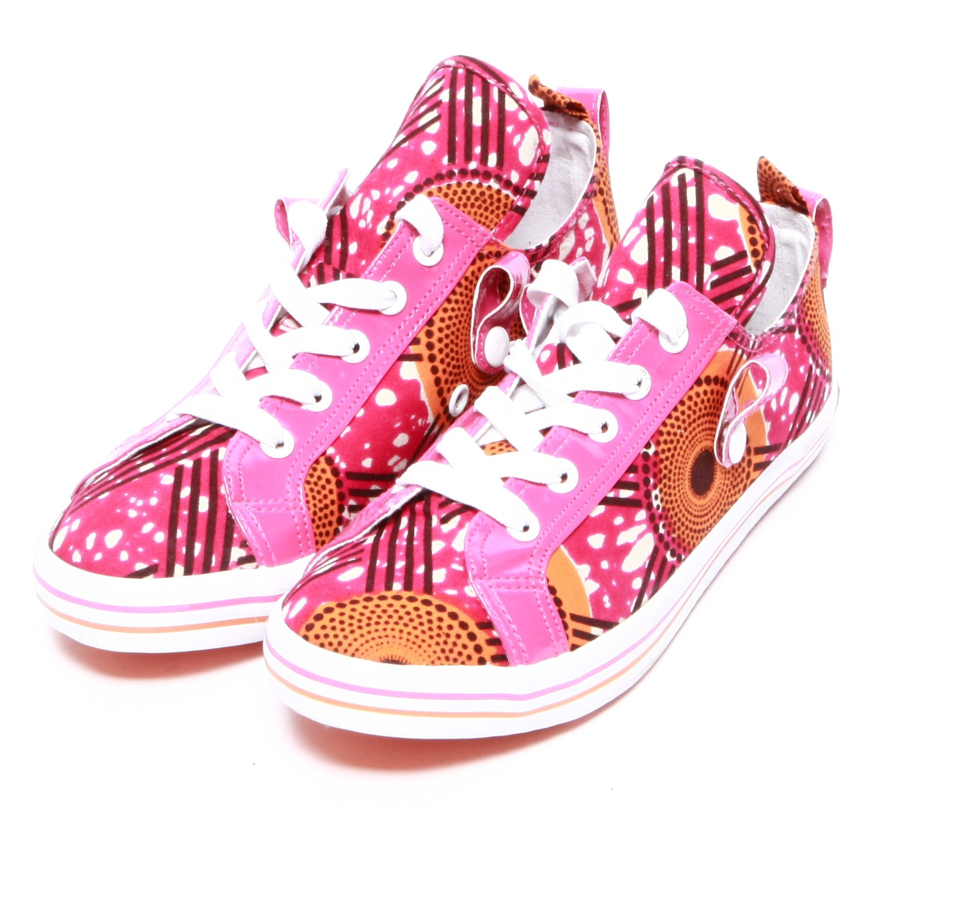 African print Hi Top Sneaker-Hot Star - OHEMA OHENE AFRICAN INSPIRED FASHION  - 3