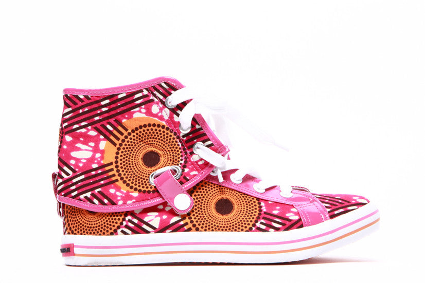 African print Hi Top Sneaker-Hot Star - OHEMA OHENE AFRICAN INSPIRED FASHION  - 2