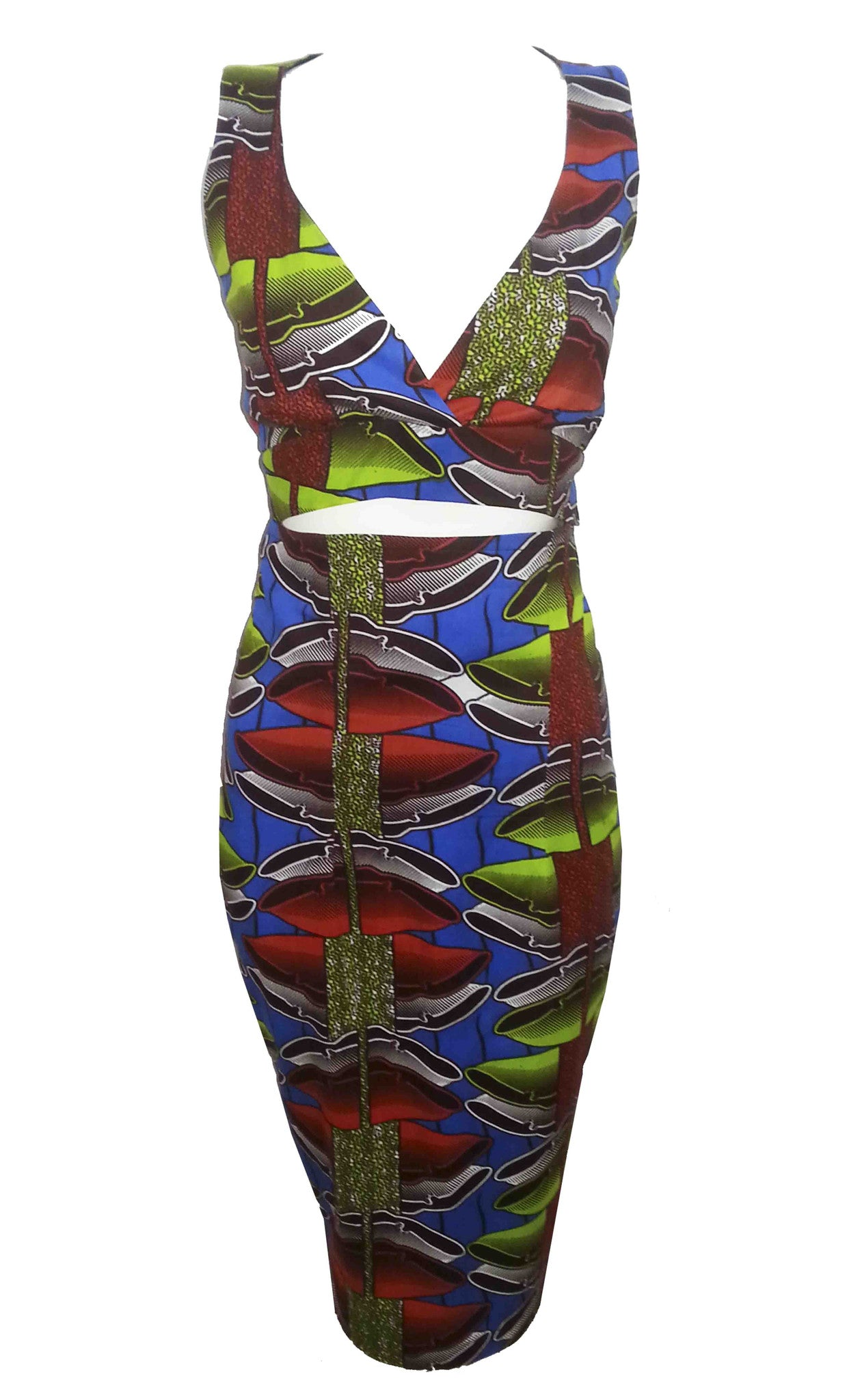 Shola African Print Co-Ord - OHEMA OHENE AFRICAN INSPIRED FASHION  - 1