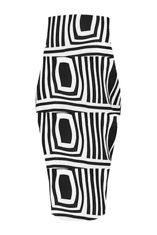 Obayaa-High waist midi skirt - OHEMA OHENE AFRICAN INSPIRED FASHION  - 1