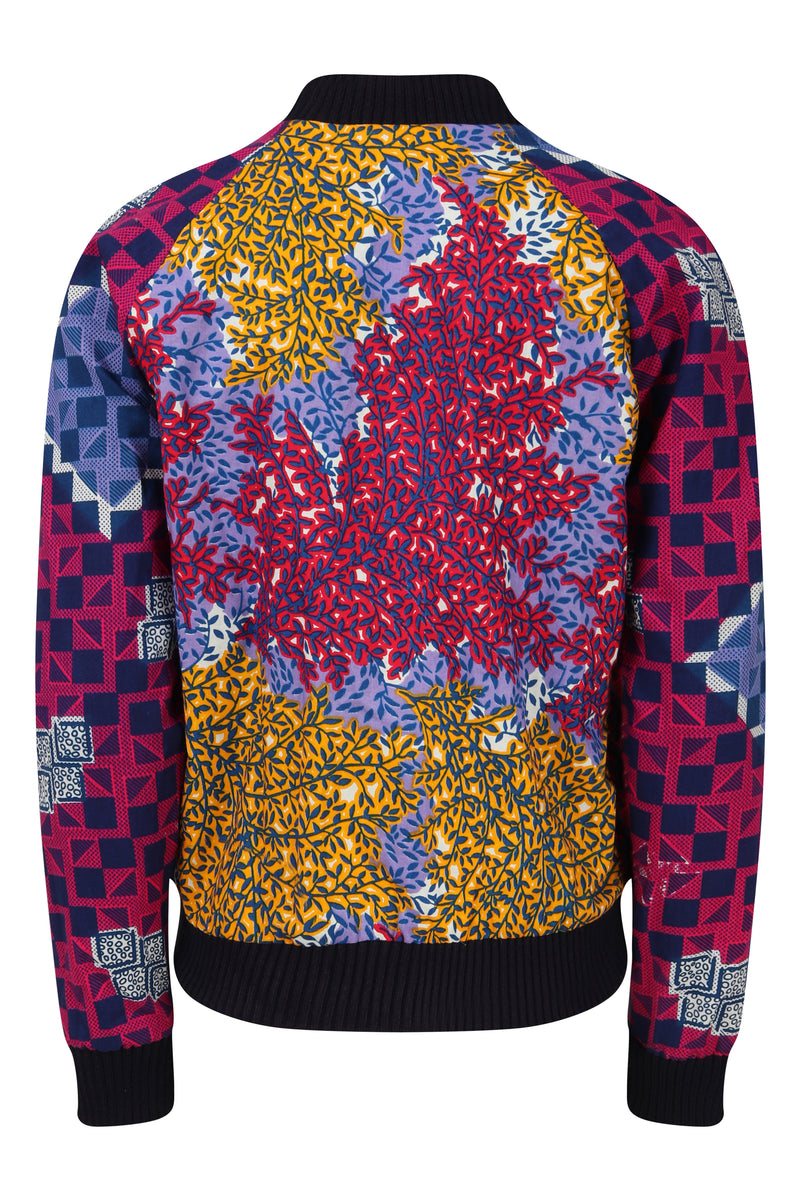 Jody African print Bomber Jacket-Floral