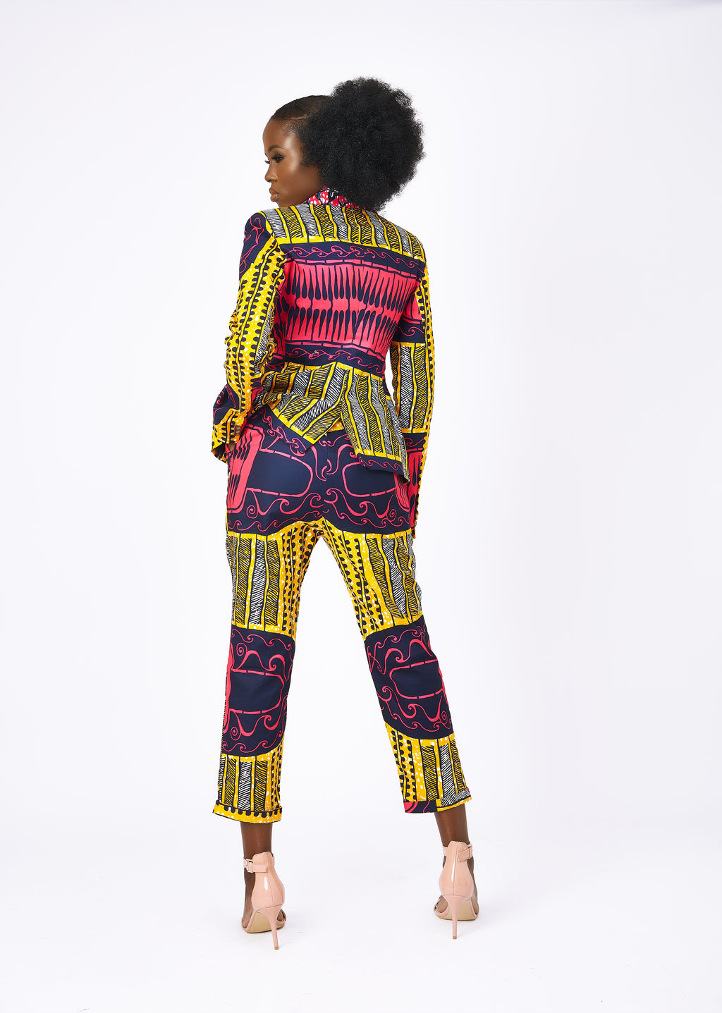 Doreen African print trousers- Azzei