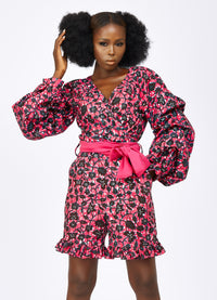 African print Playsuit -Megan