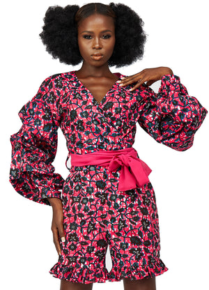 African print playsuit