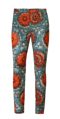 Shell print Men's skinny leg trousers - OHEMA OHENE AFRICAN INSPIRED FASHION  - 1