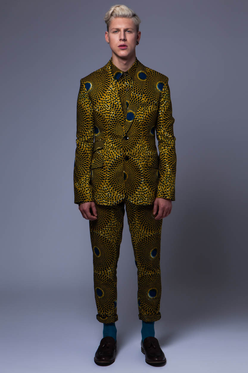 Men's 2 button blazer 'Nsubra' African print - OHEMA OHENE AFRICAN INSPIRED FASHION  - 2