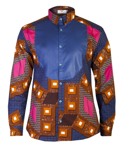 Beautiful authentic African print Men's Shirt qiStY