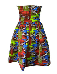 Sally Bandeau African Print Dress - OHEMA OHENE AFRICAN INSPIRED FASHION  - 2