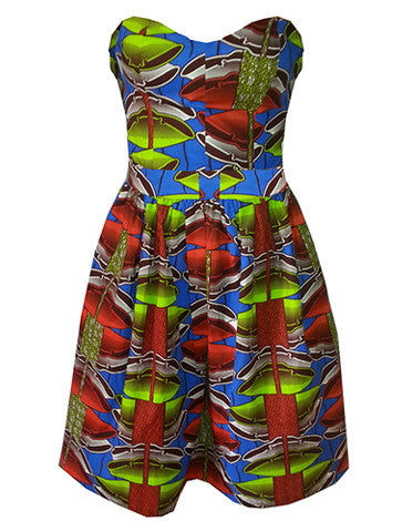 Sally Bandeau African Print Dress