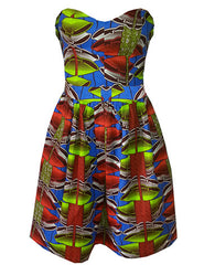 Sally Bandeau African Print Dress - OHEMA OHENE AFRICAN INSPIRED FASHION  - 1