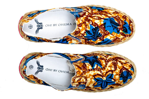 Patterned Espadrille-Oh! Sam evergreen