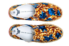 Patterned Espadrille-Oh! Sam evergreen - OHEMA OHENE AFRICAN INSPIRED FASHION  - 2