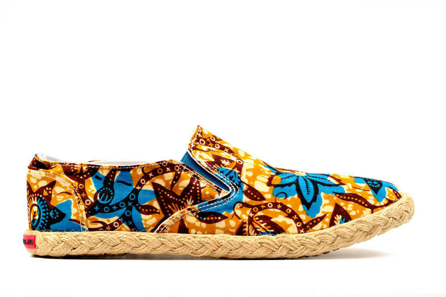 Patterned Espadrille-Oh! Sam evergreen - OHEMA OHENE AFRICAN INSPIRED FASHION  - 1