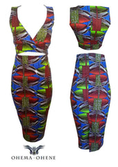 Shola African Print Co-Ord - OHEMA OHENE AFRICAN INSPIRED FASHION  - 2