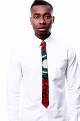 Gramphone African Print Men's Skinny Tie - OHEMA OHENE AFRICAN INSPIRED FASHION