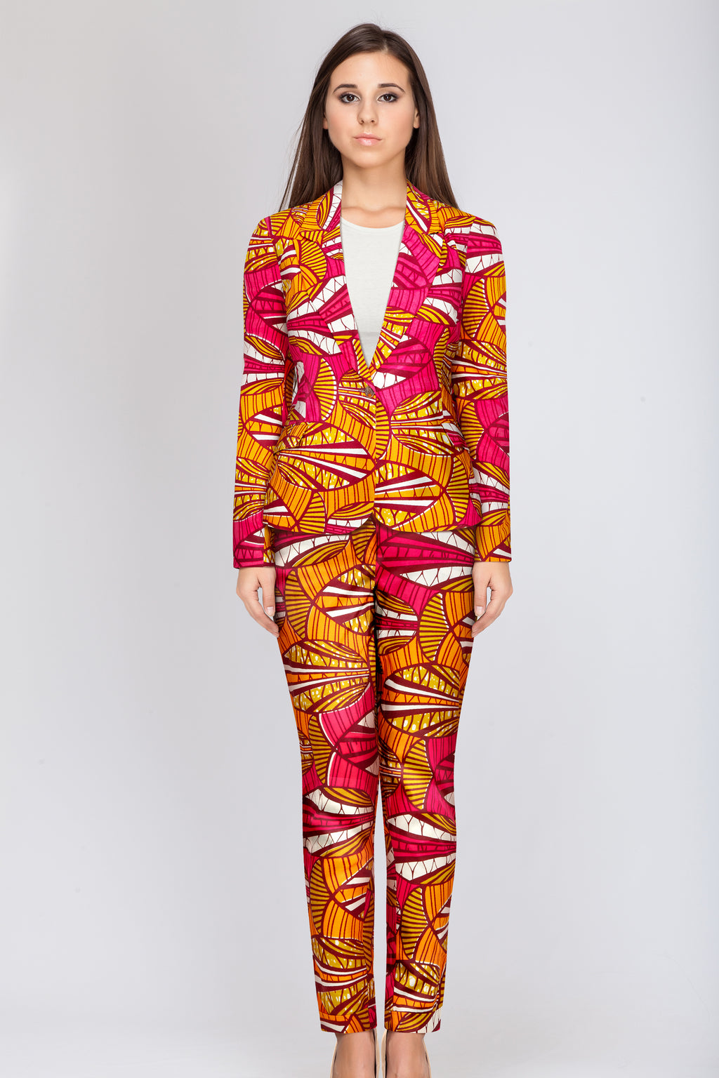 Libby African print trousers- Tulip