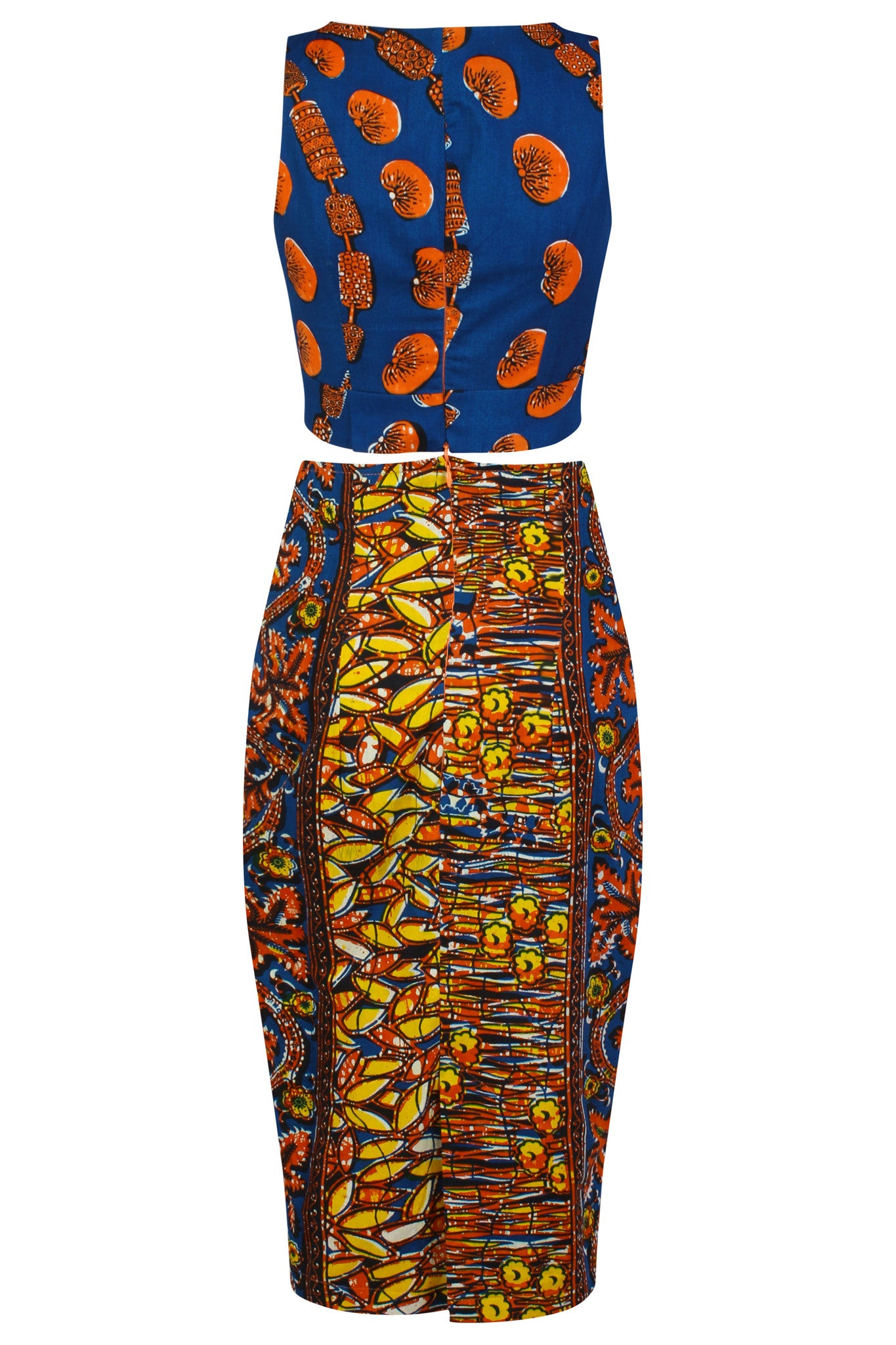 'Odor' Patterned Two piece Co-Ord dress - OHEMA OHENE AFRICAN INSPIRED FASHION  - 2