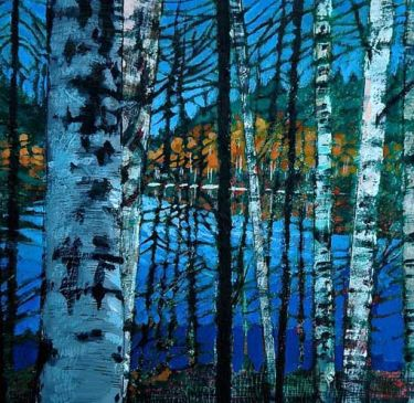 Card - Finnish Birches