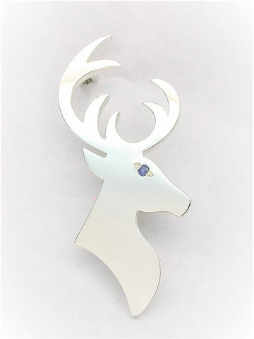 Silver Brooch - Stag
