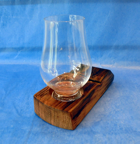 Whisky barrel stave - 1 glass holder