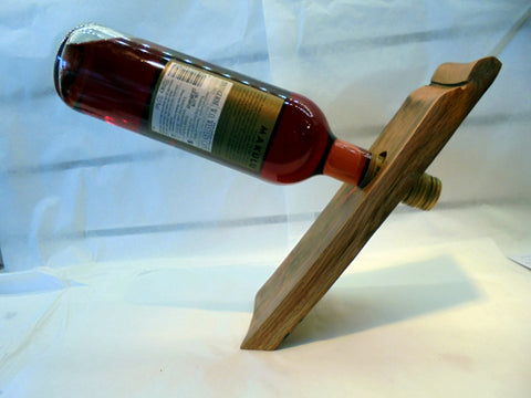 Bottle balancer - Whisky barrel stave