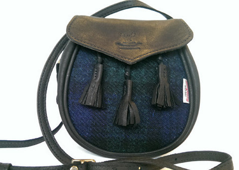 Bags - Harris Tweed & Deer Leather (Sporran bag)