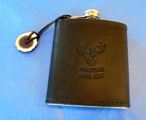 Deerskin Leather Hip Flask