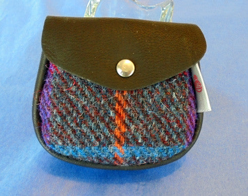 Deerskin Leather & Harris Tweed Coin Purse