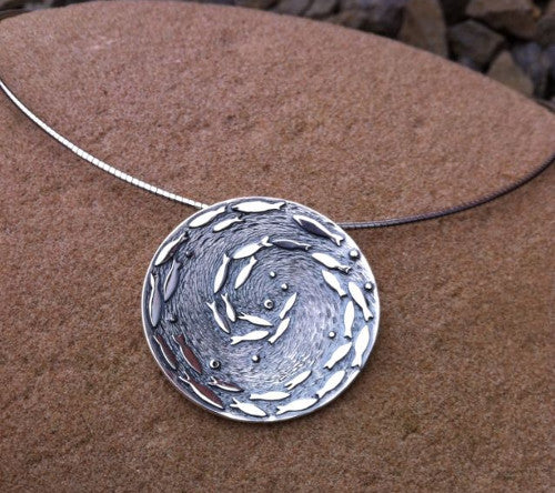 Silver Darlings - medium pendant