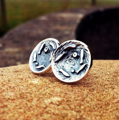 Silver Darlings - stud earrings