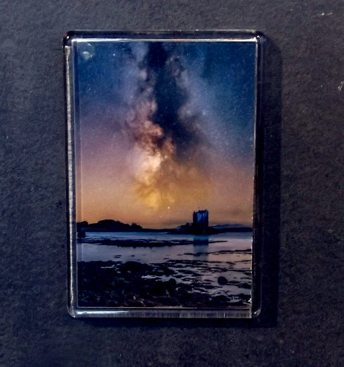 Fridge Magnet - Castle Stalker & the Milky Way