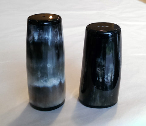 Salt & Pepper set - Highland Cow Horn