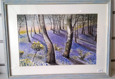Painting - Bluebell woods