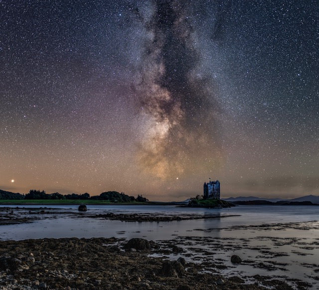 Castle Stalker & the Milky Way - Mounted print