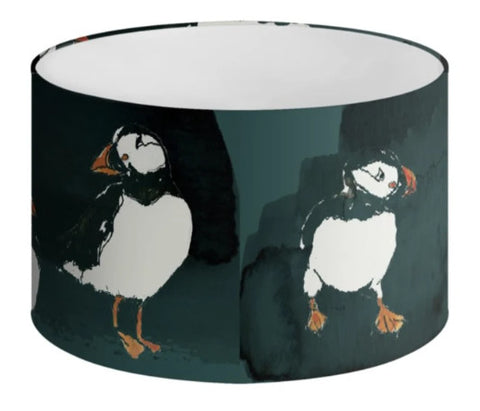 Lampshade - Puffins