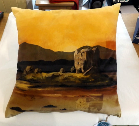 Cushion - Castle Stalker Sunset