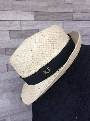 Personalised Straw Trilby Hat