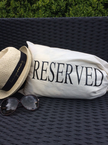 'Reserved' Travel Bag